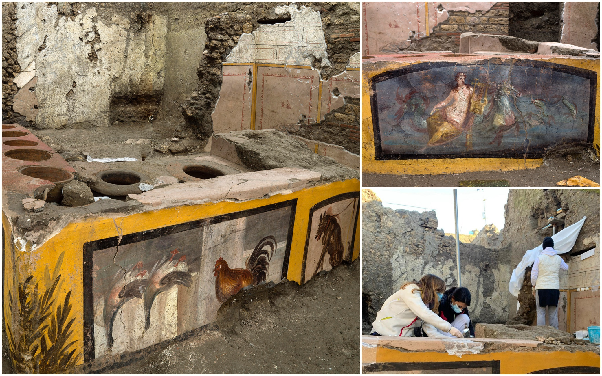 Pompei, ritrovato un Termopolio intatto: era una sorta di bottega dello  street food. FOTO