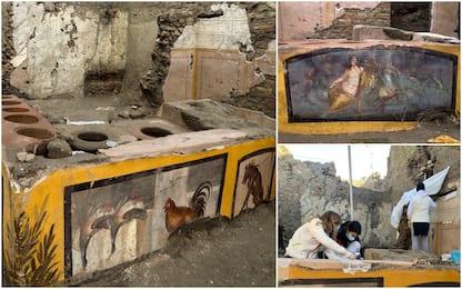 Pompei, ritrovato un Termopolio intatto. FOTO
