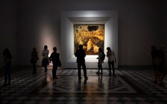 The Uffizi Gallery reopened to the public on 3 of June after the lockdown for Coronavirus' emergency, Florence, 3 June 2020. ANSA/CLAUDIO GIOVANNINI