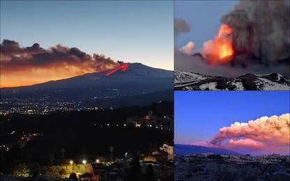 Spettacolare eruzione dell'Etna, boati e cenere su Catania. FOTO