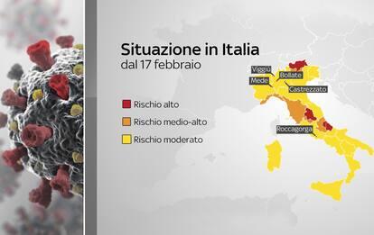 Covid, quali sono i comuni e le province italiane in zona rossa