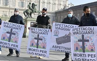 Manifestazione lavoratori spettacolo Torino