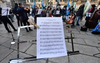 lavoratori spettacolo protesta