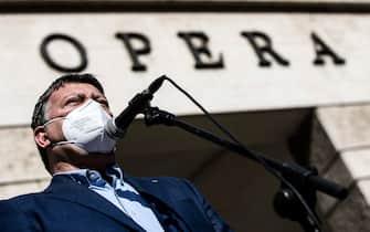 Manifestazione lavoratori spettacolo Roma