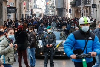 Daily life in the centre of Rome during the second wave of the Covid-19 Coronavirus pandemic?, Italy, 27 February 2021. ANSA/GIUSEPPE LAMI