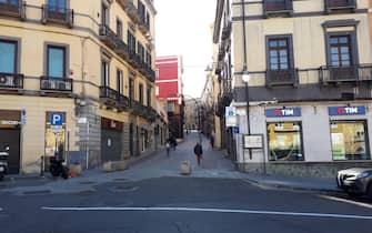 Le strade semideserte a Cagliari, 12 marzo 2020. ANSA/Fabrizio Fois