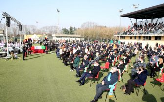The funeral service of Ambassador Luca Attanasio in Limbiate, northern Italy, 27 February 2021. Italy's Ambassador to the Democratic Republic of Congo Luca Attanasio and Carabiniere police officer Vittorio Iacovacci were killed on 22 February while travelling from Goma to Rutshuru in the east of the African country where they were planning to visit a UN World Food Programme (WFP) school feeding programme. ANSA/ MATTEO BAZZI