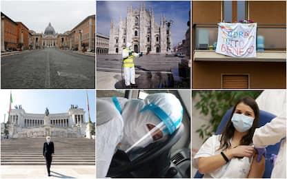 Covid, un anno fa iniziava il lockdown in Italia: le foto simbolo