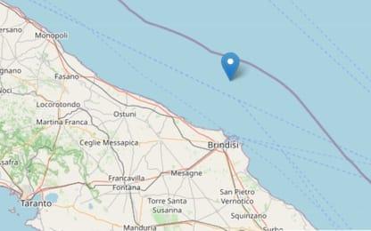 Terremoto, sisma di magnitudo 3 al largo della costa di Brindisi