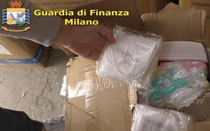 Covid, Gdf sequestra 5 milioni di mascherine a Milano