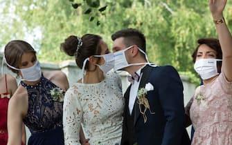26.07.2020., Pozega, Croatia - Wedding in Croatia during the covid-19 pandemic. Photo: Emica Elvedji/PIXSELL