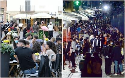 A Roma e Milano bar pieni nel primo weekend in zona gialla. FOTO