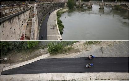 Roma, le foto dall'alto della colata di cemento sul Lungotevere