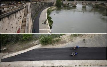 Roma, asfalto Lungotevere