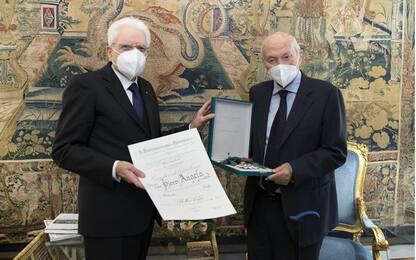 Mattarella nomina Piero Angela Cavaliere di Gran Croce