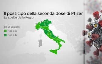 Come le Regioni hanno scelto di posticipare la seconda dose di Pfizer