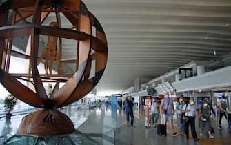 Passeggeri all'aeroporto di Fiumicino