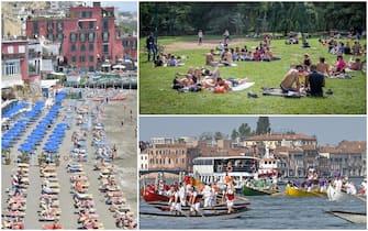 Turisti in mare e in città con l'Italia in zona gialla