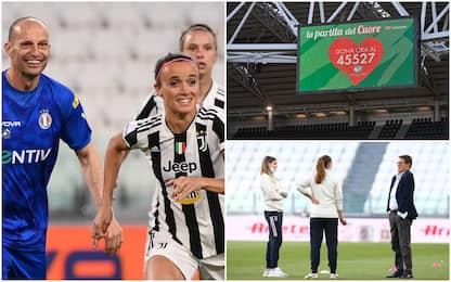 Partita del cuore, calcio d'inizio affidato alle Juventus Women. FOTO