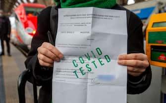 Un green pass cartaceo