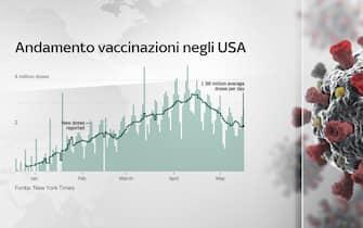 Grafiche coronavirus: andamento vaccinazione negli Usa