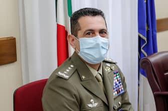 Il generale Francesco Paolo Figliuolo, commissario all'emergenza Covid, durante l'audizione al Copasir, Roma, 21 Aprile 2021. ANSA/GIUSEPPE LAMI