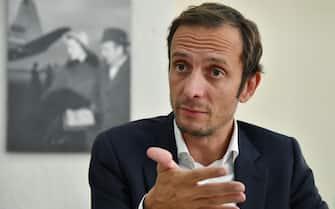 Il presidente della Regione Friuli Venezia Giulia, Massimiliano Fedriga, durante un Forum all'ANSA, Roma, 26 settembre 2018. ANSA/ALESSANDRO DI MEO