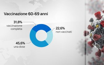 Grafiche coronavirus: i vaccini nella fascia 60-69 anni