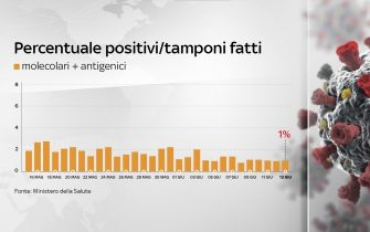 percentuale di tamponi positivi sui casi testati