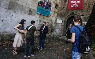 Il Museo delle Mura dove sono in mostra i lavori realizzati dagli allievi del corso triennale di Vetrate Artistiche della Scuola d Arte e dei Mestieri   Ettore Rolli  , Roma 25 maggio 2021. ANSA/FABIO FRUSTACI