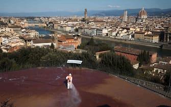 Firenze, causa covid-19 la citta viene sanificata