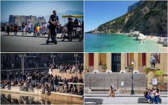 Alcune immagini da diverse regioni dopo le riaperture in seguito al passaggio in zona bianca o gialla