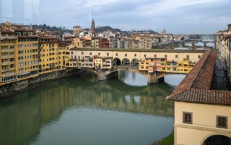 A view shows the Ponte Vecchio on January 21, 2021 in Florence, Tuscany. (Photo by Vincenzo PINTO / AFP) (Photo by VINCENZO PINTO/AFP via Getty Images)