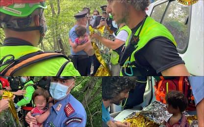 Ritrovato bimbo scomparso nel Mugello: le immagini dei soccorsi