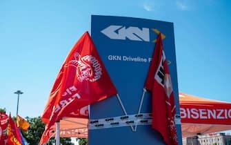 La Gkn chiude il proprio stabilimento di Campi Bisenzio (Firenze) e ha aperto la procedura di licenziamento collettivo per tutti i propri 422 dipendenti, 09 luglio 2021. ANSA/CLAUDIO GIOVANNINI