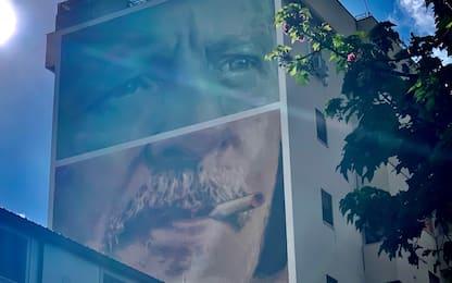 Borsellino, 29 anni fa la strage di via D'Amelio: murale a Palermo