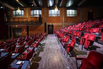 Evento teatri aperti UNITA al Teatro Franco Parenti - Milano 22 Febbraio 2021  Ansa/Matteo Corner