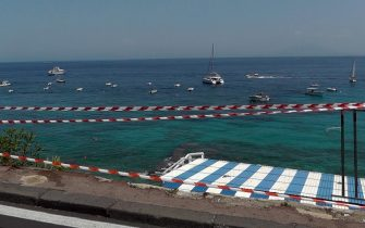 La zona dell'incidente del minibus a Capri