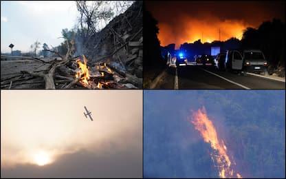 Incendi in Sardegna, centinaia di sfollati nell'Oristanese. FOTO