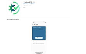 Schermata che mostra l'app Verifica C19