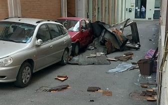 foto del sindaco di Fidenza Andrea Massari su danni del vento (TAGLIO)