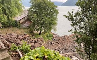 I torrenti che scendono al lago si sono trasformati in cascate di fango