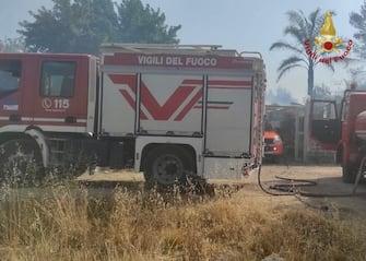 Camion dei vigili del fuoco in Sicilia