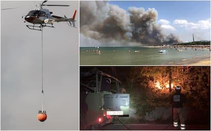 Incendi, bonificata zona Riserva Dannunziana e Pescara sud