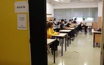 Un'aula di una scuola superiore