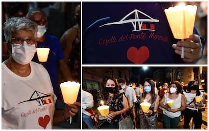 Genova, tre fiaccolate in ricordo delle vittime del Ponte Morandi
