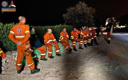 Otranto, domato l'incendio a Porto Badisco: VIDEO