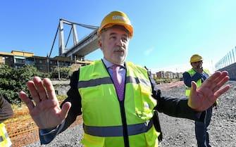 Il sindaco di Genova Marco Bucci nominato commissario straordinario per la ricostruzione del ponte Morandi. Genova, 04 ottobre 2018. ANSA/LUCA ZENNARO