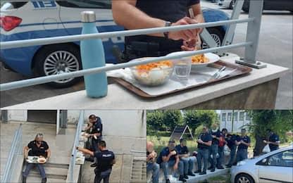 Covid, il caso dei poliziotti senza green pass fuori dalla mensa