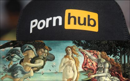Pornhub, rimosse opere del tour erotico Classic Nudes dopo la diffida